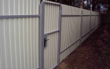 фото: забор из металлопрофиля 4