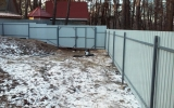 фото: забор из металлопрофиля 6