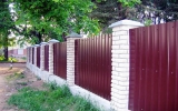 фото: забор из металлопрофиля 8